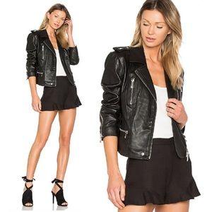 Avec Les Filles Leather Moto Jacket